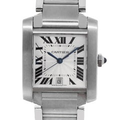 Cartier Stainless Steel Tank Francaise Automatic Wristwatch Ref 2302