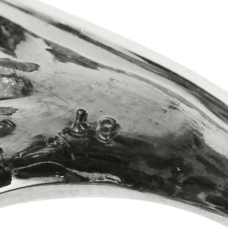 Aquamarine Diamond Pearl Snake Ring 4