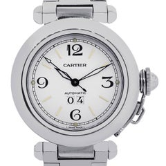 Cartier ladies Stainless Steel Pasha C Big Date Automatic Wristwatch