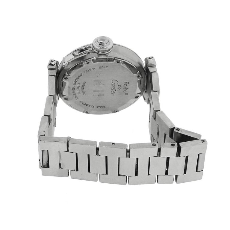 Cartier ladies Stainless Steel Pasha C Big Date Automatic Wristwatch For Sale 1