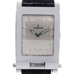 Corum Ladies Stainless Steel Toboggan Roman Dial Quartz Wristwatch