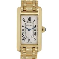 Cartier Ladies Yellow Gold Tank Americaine Quartz Wristwatch Ref W26015K2
