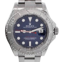 Rolex Stainless Steel Yachtmaster Blue Dial Automatic Wristwatch Ref 116622