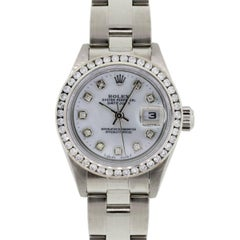 Rolex Ladies Stainless Steel Diamond Datejust Automatic Wristwatch Ref 79174