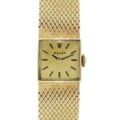 Rolex Ladies Yellow Gold Vintage Manual Wristwatch