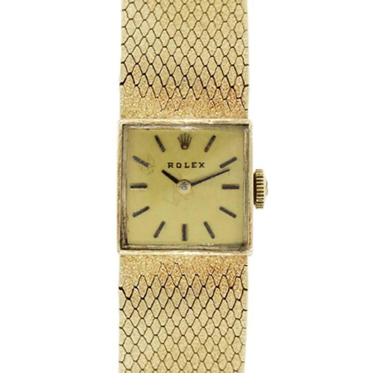 Rolex Ladies Yellow Gold Vintage Manual Wristwatch