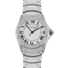 Cartier Ladies Stainless steel Santos Ronde Quartz Wristwatch Ref 1561