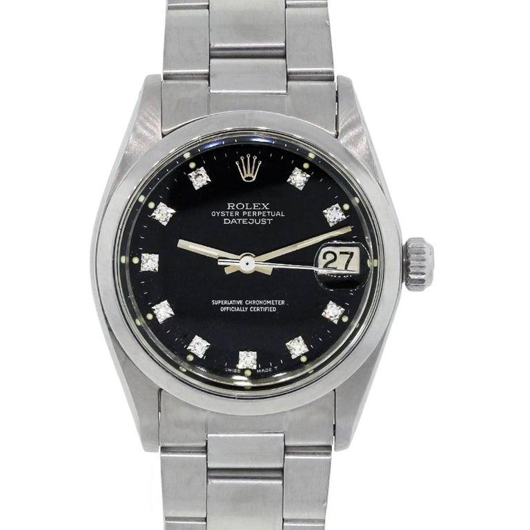 Rolex Stainless steel Datejust Midsize Automatic Wristwatch Ref 6824