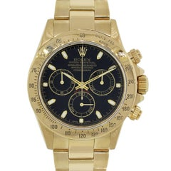 Rolex yellow gold Daytona chronograph Automatic Wristwatch Ref 116528