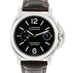 Panerai Stainless steel Luminor Marina Automatic Wristwatch Ref PAM104