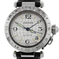 Cartier Stainless steel Pasha C Automatic Wristwatch Ref 2377