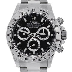 Rolex Stainless Steel Daytona Chronograph Automatic Wristwatch Ref 116520