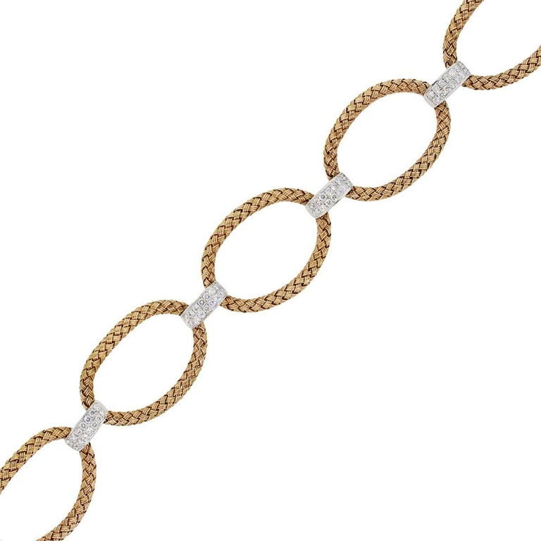 Diamond Woven Link Bracelet
