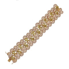 Fancy Colored Round Diamond Circle Bracelet