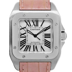 Cartier  Stainless steel Santos Automatic Wristwatch