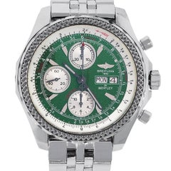 Breitling Stainless Steel Bentley Green Dial Automatic Wristwatch Ref A13362