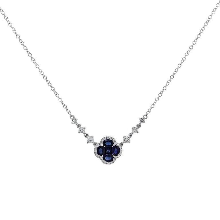 Sapphire and Diamond Pendant Necklace