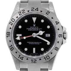 Rolex Stainless Steel Explorer II black dial Automatic Wristwatch Ref 16570