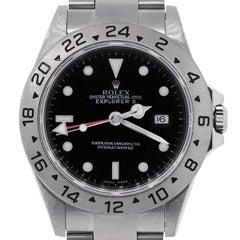 Rolex Stainless Steel Explorer II black dial Automatic Wristwatch Ref 16570