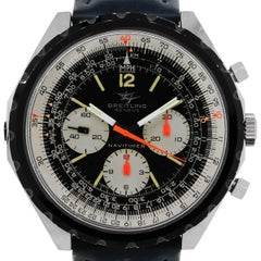 Breitling Stainless Steel Navitimer Chronograph Manual Wristwatch Ref 0816