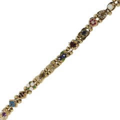 Diamond Multi Gemstone Slide Bracelet