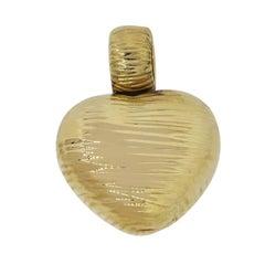 Roberto Coin Elephant Skin Heart Pendant
