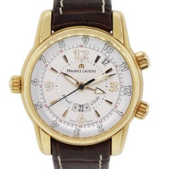Maurice Lacroix rose gold Masterpiece Reveil Globe Automatic Wristwatch