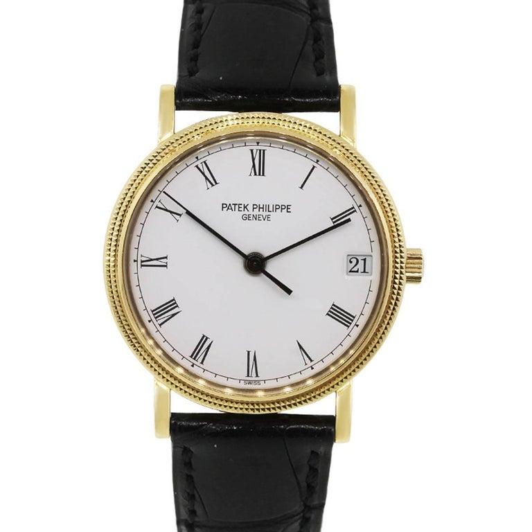Patek Philippe yellow gold Calatrava Automatic Wristwatch