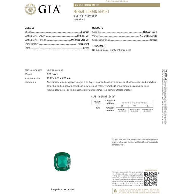GIA Certified 3.33 Carat Untreated Emerald, Sapphire, and Diamond Cocktail Ring In New Condition For Sale In Boca Raton, FL