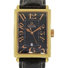 Gevril Yellow Gold Avenue of Americas Ltd Ed Automatic Wristwatch