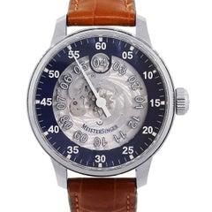 Meistersinger Salthora Stainless Steel Meta Blue Automatic Wristwatch