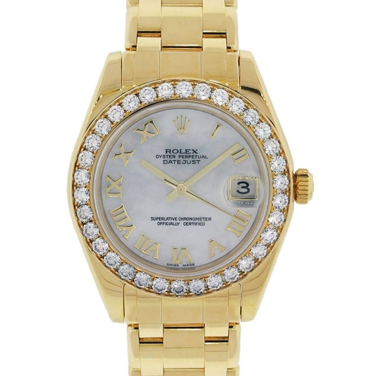 Rolex Ladies Yellow gold Datejust Masterpiece Midsize Automatic Wristwatch