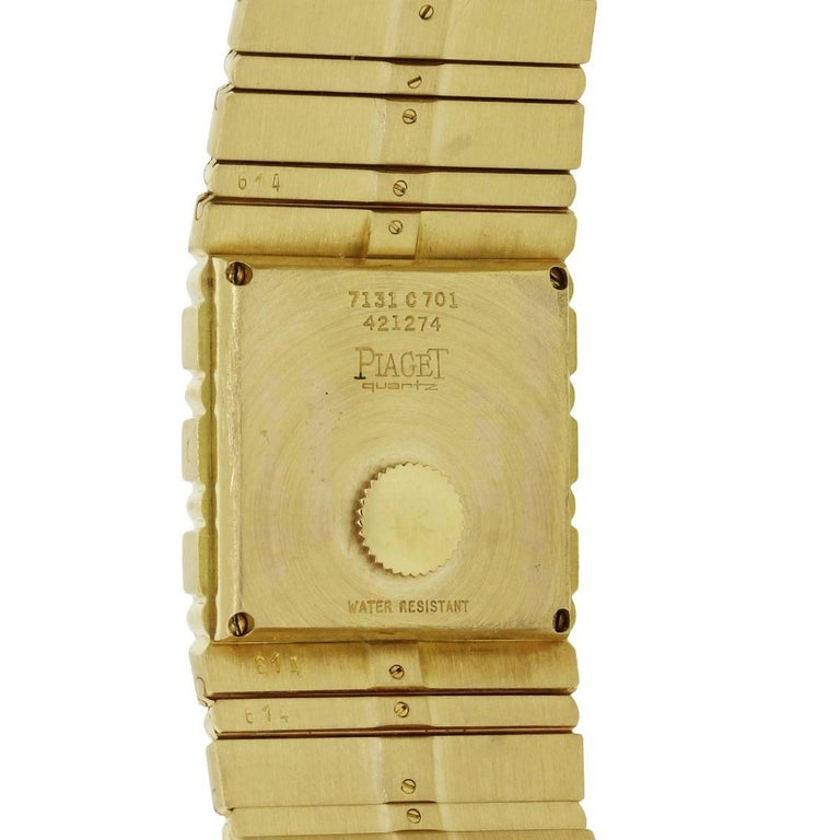 Piaget yellow gold Polo Quartz Wristwatch Ref 7131  For Sale 2