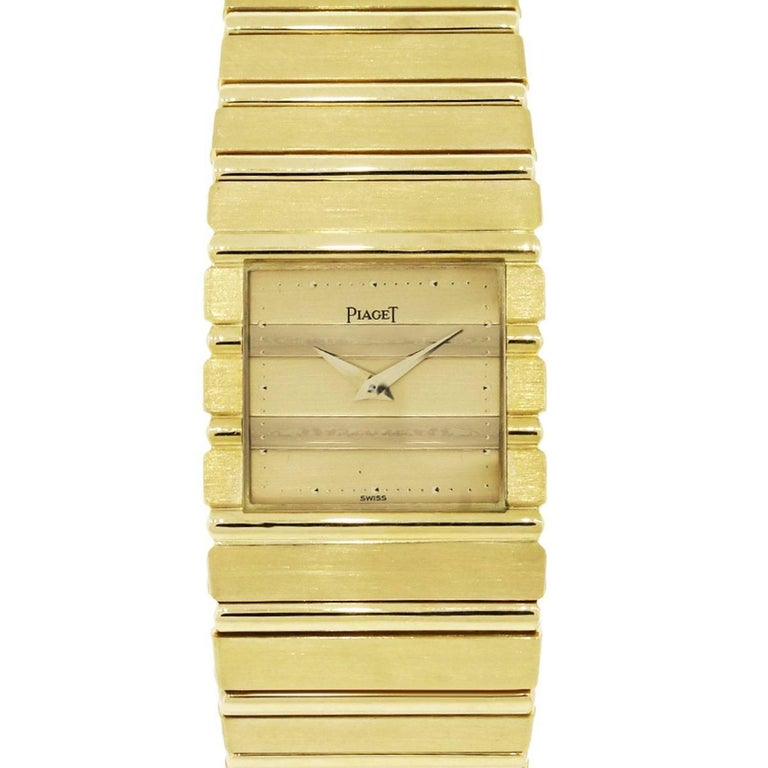 Piaget yellow gold Polo Quartz Wristwatch Ref 7131  For Sale