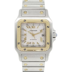 Cartier yellow gold Stainless steel Santos Automatic Wristwatch