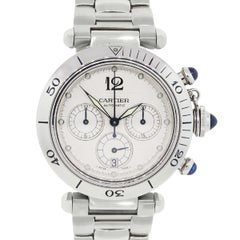 Cartier Stainless steel Pasha Chronograph Dial Automatic Wristwatch