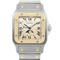 Cartier Stainless steel Santos Galbee Moon Phase Quartz Wristwatch