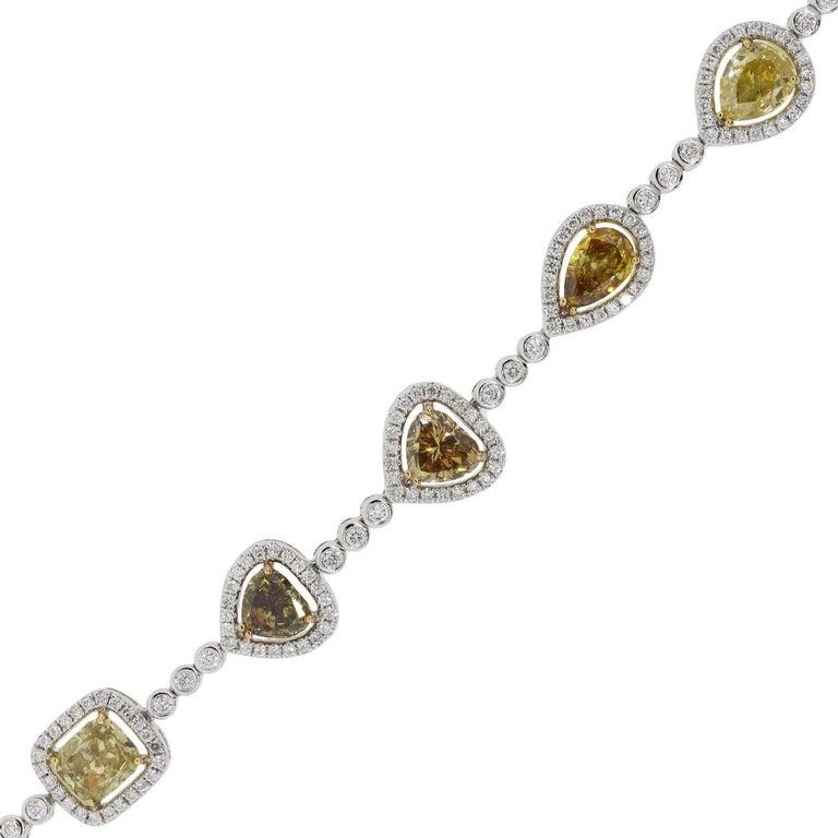 Multi Shape Fancy Color Diamond Bracelet