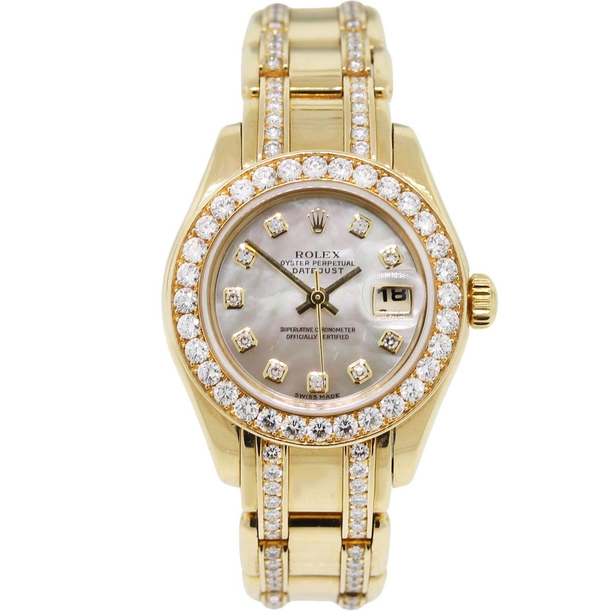 Rolex 80298 Diamond Masterpiece Ladies Watch at 1stdibs