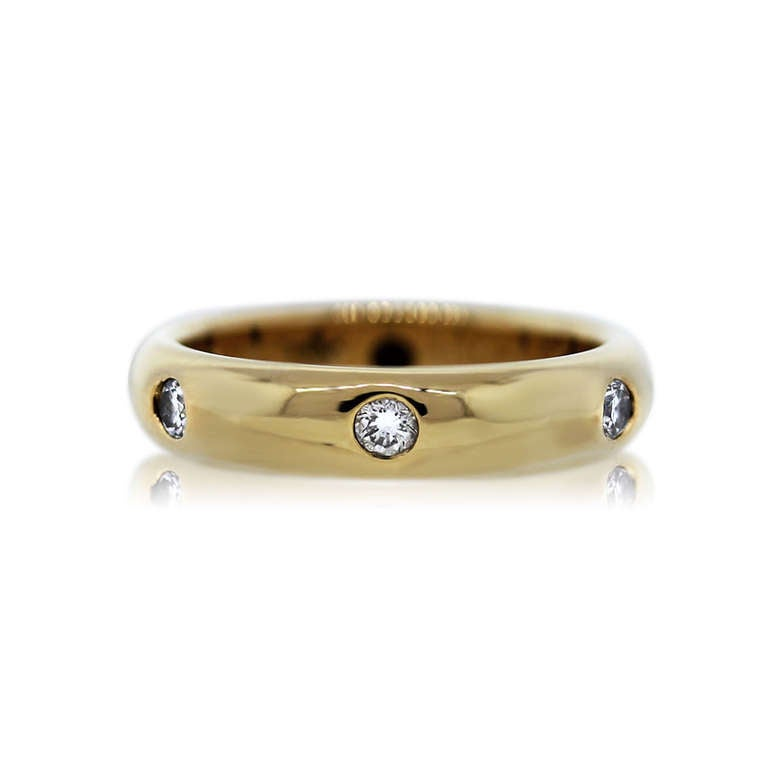 1992 Cartier Yellow Gold Diamond Wedding Band Ring 2