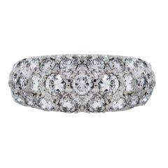 White Gold 2.00 carat total weight Pave Set Diamond Band Ring