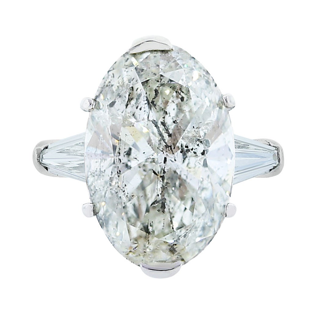 905 Carat Oval Diamond Platinum Engagement Ring At 1stdibs