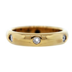 1992 Cartier Yellow Gold Diamond Wedding Band Ring