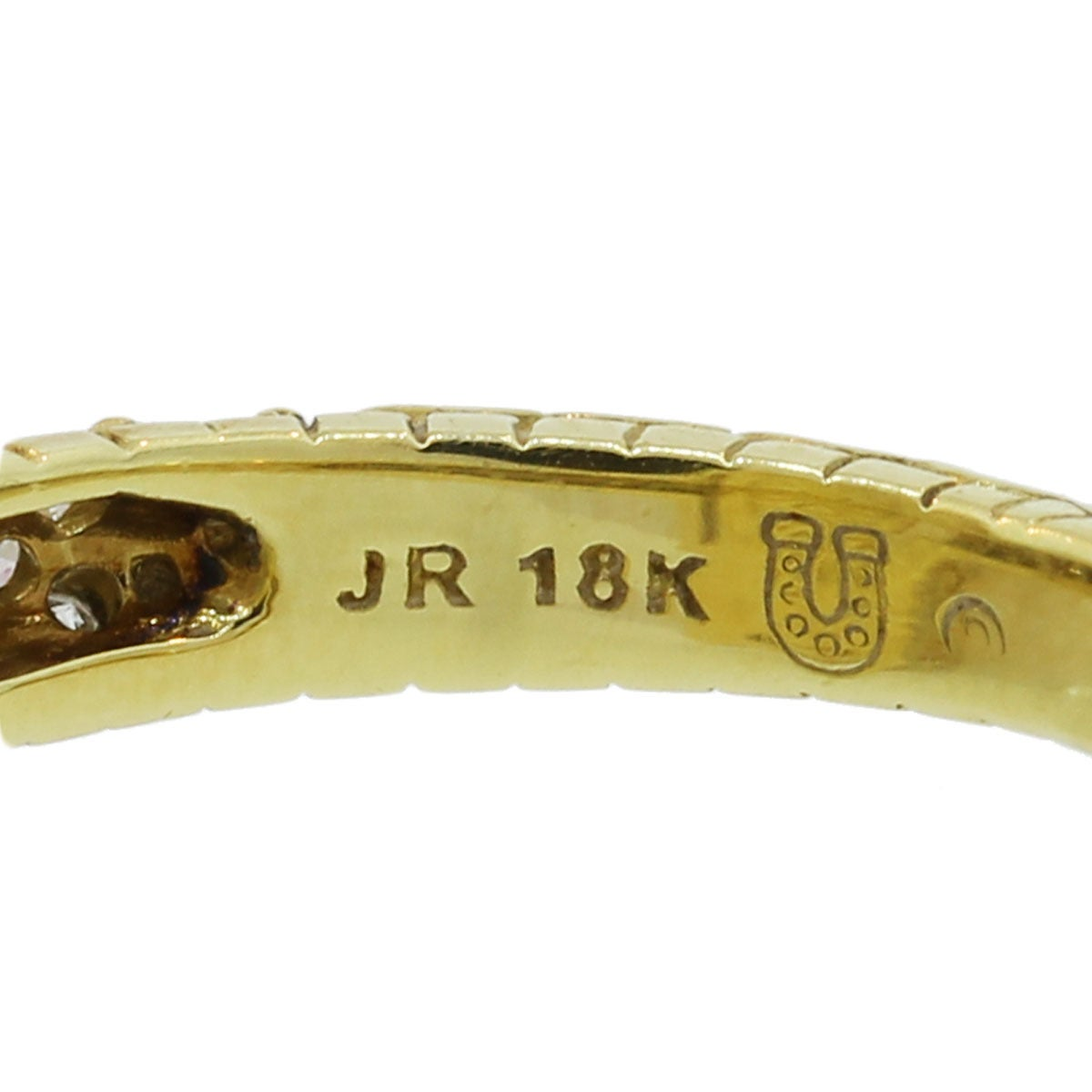 Judith Ripka Madeira Citrine Diamond Gold Ring 2