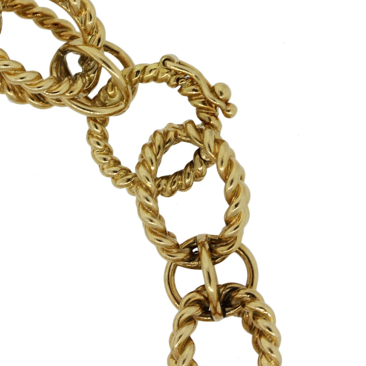 Tiffany & Co  Schlumberger Gold Rope Link Bracelet