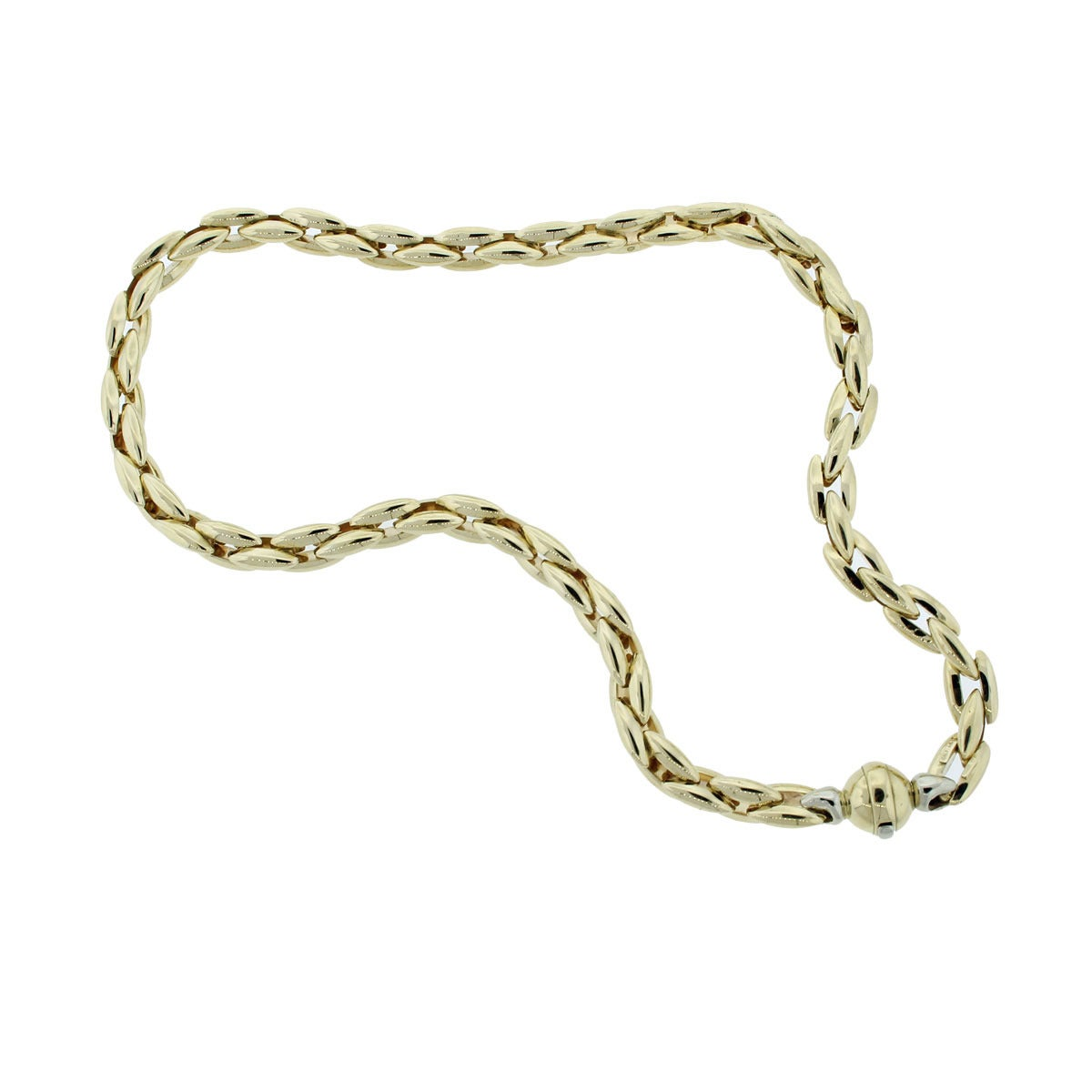 two tone gold chain choker necklace at 1stdibs