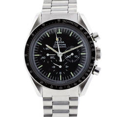 Omega Stainless Steel Speedmaster First Watch Worn on the Moon Wristwatch