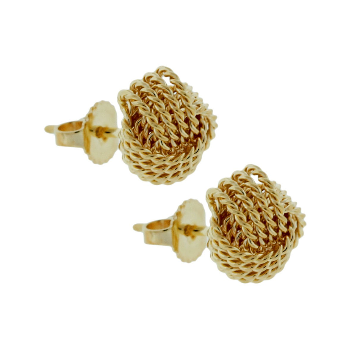 Style 18k Yellow Gold Knot Earrings Materials