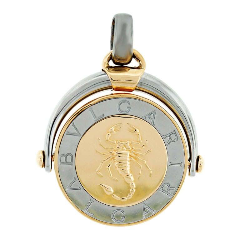 Bulgari bvlgari two tone scorpio pendant at 1stdibs bulgari bvlgari two tone scorpio pendant for sale mozeypictures Image collections