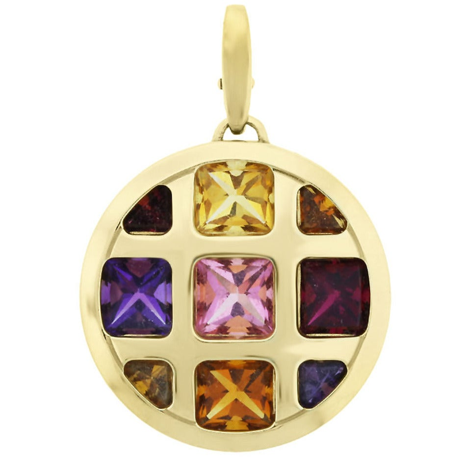 cartier pasha multi gemstone gold pendant for sale at 1stdibs